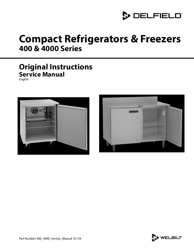 Delfield Product 240 Volt Freezer Schematic Service Manual
