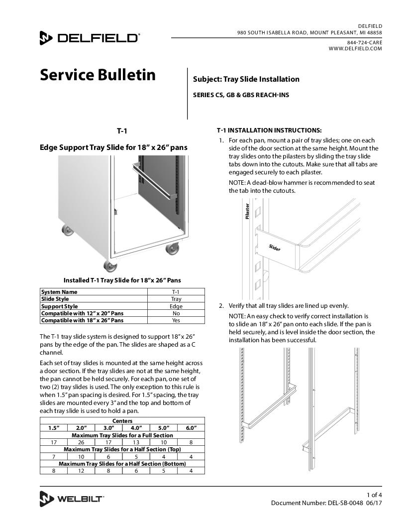 Service Parts Manual Delfield Tyler Refrigeration Wiring Diagrams Product Rh Com Catalog
