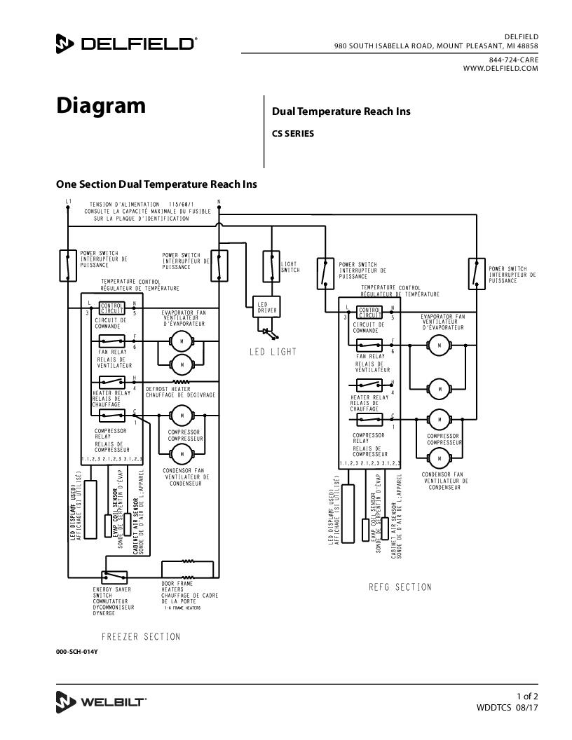 Delfield product dual temperature reach ins cs series wiring diagram asfbconference2016 Choice Image