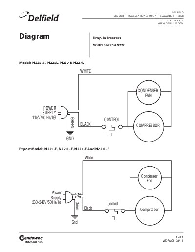 Delfield product drop in freezer wiring diagram asfbconference2016 Choice Image