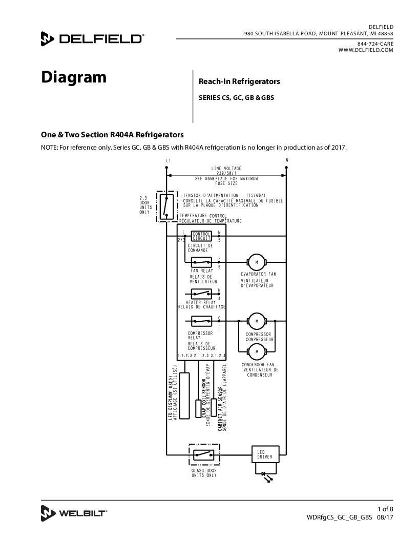 Service Parts Manual Delfield Perlick Wiring Diagram Product Rh Com Catalog